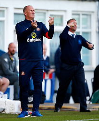 Sunderland manager Simon Grayson and Bury manager Lee Clark gesture - Mandatory by-line: Matt McNulty/JMP - 10/08/2017 - FOOTBALL - Gigg Lane - Bury, England - Bury v Sunderland - Carabao Cup - First Round