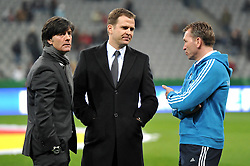 03.03.2010, Allianz Arena Muenchen, Muenchen, GER,  Laenderspiel Deutschland ( GER ) - Argentinien ( ARG ) 0 - 1. Im Bild Joachim Loew ( GER / Trainer / Coach ), Oliver Bierhoff ( GER / Teammanager ), Andreas Koepke ( GER / Trainer / Keeper - Coach ). EXPA Pictures © 2010, PhotoCredit: EXPA/ nph/  Kurth / for Slovenia SPORTIDA PHOTO AGENCY.