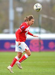 Loren Dykes of Bristol City heads the ball - Mandatory by-line: Nizaam Jones/JMP- 31/03/2019 - FOOTBALL - Stoke Gifford Stadium - Bristol, England - Bristol City Women v Reading Women - FA Women's Super League 1