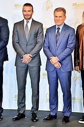 October 4, 2017 - Tokio, Tokio, Japan - David Beckham und Robert G. Goldstein bei einer Pressekonferenz zum Werbevertrag mit den Las Vegas Sands Casinos im Palace Hotel. Tokio, 04.10.2017 (Credit Image: © Future-Image via ZUMA Press)