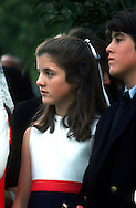 A 25.1 MG IMAGE OF:..Caroline Kennedy at a ceremony to mark the first anniversary of the death of Robert Kennedy at Arlington Cemetary...Photograph by Dennis Brack