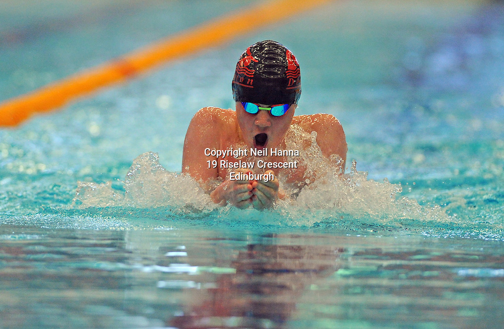 Royal Commonwealth Pool, Edinburgh<br /> Scottish Summer Meet - Saturday 25th July 2015-Day 2 Finals<br /> <br /> Gregor Barnett<br /> <br />  Neil Hanna Photography<br /> www.neilhannaphotography.co.uk<br /> 07702 246823