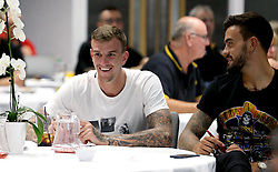 Aden Flint and Marlon Pack of Bristol City take part in the City Foundation Quiz - Mandatory by-line: Robbie Stephenson/JMP - 19/09/2016 - FOOTBALL - Ashton Gate - Bristol, England - Bristol City Community Trust Quiz