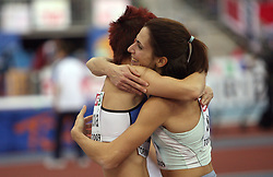 Dana Veldakova of Slovakia placed third and Marija Sestak of Slovenia placed second at the final of Women Triple  jump at the 3rd day of  European Athletics Indoor Championships Torino 2009 (6th - 8th March), at Oval Lingotto Stadium,  Torino, Italy, on March 8, 2009. (Photo by Vid Ponikvar / Sportida)