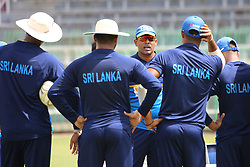 July 6, 2018 - Sri Lanka - Sri Lanka Cricket Batting Coach Thilan Samaraweera (3rd L) talks with team members during a practice session at the R. Premadasa Stadium in Colombo on July 6th of 2018.Sri Lanka and South Africa will play two Tests, five 50-over One-Day Internationals (ODIs), and one T20 in Sri Lanka between July 12 and August 14. The first Test between South African and Sri Lanka will be played on July 12 at the Galle International Cricket Stadium in Galle. (Credit Image: © Lahiru Harshana/Pacific Press via ZUMA Wire)