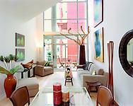 San Francisco modern loft living room interior.