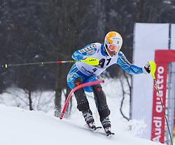 22.01.2012, Ganslernhang, Kitzbuehel, AUT, FIS Weltcup Ski Alpin, 72. Hahnenkammrennen, Herren, Slalom 1. Durchgang, im Bild Andre Myhrer (SWE) // Andre Myhrer of Sweden during Slalom race 1st run of 72th Hahnenkammrace of FIS Ski Alpine World Cup at 'Ganslernhang' course in Kitzbuhel, Austria on 2012/01/22. EXPA Pictures © 2012, PhotoCredit: EXPA/ Johann Groder