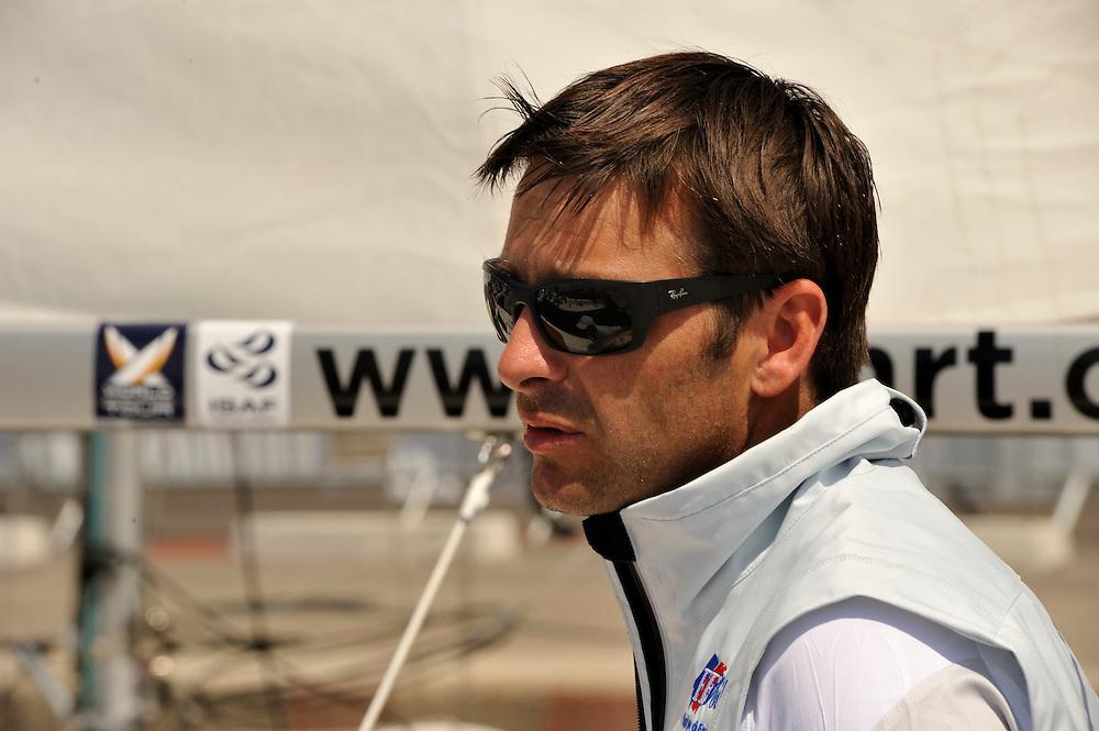 Damien Iehl, Skipper, French Match Racing Team. Photo:Chris Davies/WMRT.