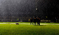 Photo: Alan Crowhurst/Sportsbeat Images.<br />Horsham v Swansea City. The FA Cup. 30/11/2007. Officials check the pitch.