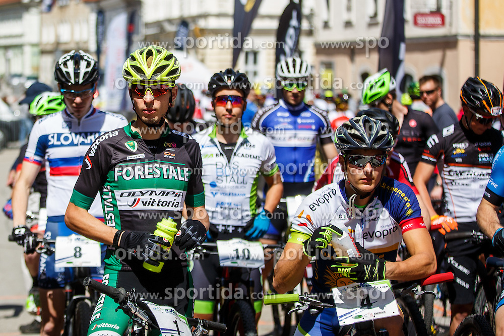 On left, Luca Braidot of Italy Cross Country XC Mountain bike race for Slovenian National Championship in Kamnik, on April 30, 2016 in Kamnik, Slovenia. Photo by Grega Valancic / Sportida