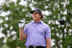 June 3, 2018 - Dublin, OH, U.S. - DUBLIN, OH - JUNE 03: Phil Mickelson reacts to a shot during the final round of the Memorial Tournament at Muirfield Village Golf Club in Dublin, Ohio on June 03, 2018.(Photo by Adam Lacy/Icon Sportswire) (Credit Image: © Adam Lacy/Icon SMI via ZUMA Press)