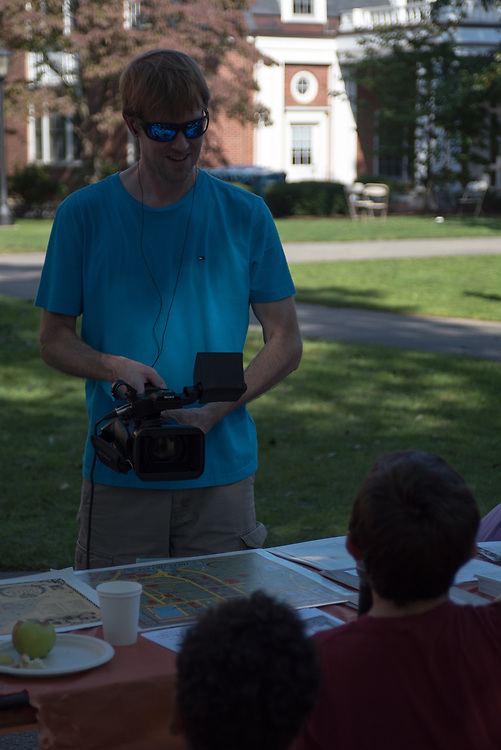 9/24/17 – Medford/Somerville, MA – Child being interviewed during Tufts Community Day on September 24. (Seohyun Shim / The Tufts Daily)
