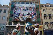 Bruxelles,23/06/2014: murales, Matonge - murals