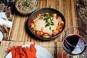 Brumadinho_MG, Brasil.<br /> <br /> Salmao a Delicia, servido no restaurante da Pousada Estalagem do Mirante no bairro Retiro do Chale em Brumadinho, Minas Gerais.<br /> <br /> Salmao a Delicia served in the restaurant of Pousada Mirante in the Retiro do Chale neighborhood in Brumadinho, Minas Gerais.<br /> <br /> Foto: RODRIGO LIMA / NITRO