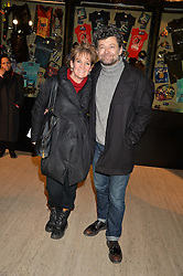 ANDY SERKIS and LORRAINE ASHBOURNE at the opening night of Cirque du Soleil's award-winning production of Quidam at the Royal Albert Hall, London on 7th January 2014.