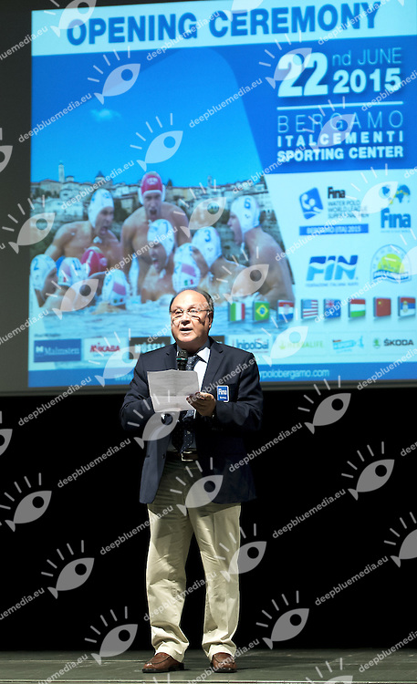 Diathesopoulos<br /> Opening Ceremony<br /> day 00 - 22/06/2015<br /> FINA Water Polo World League Superfinal Men<br /> Bergamo (ITA) 23-28 June 2015<br /> Photo G.Scala/Deepbluemedia