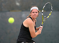 Fort Dodge's Jaci Cochrane eyes a return during the Singles Draw finals match of the Class 2A state tennis tournament at Veterans Memorial Tennis Center in Cedar Rapids on Friday, May 31, 2013.