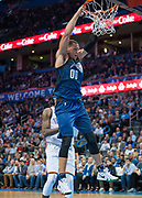 OKLAHOMA CITY, OK - FEBRUARY 26: Orlando Magic Forward Aaron Gordon (00) after dunking the ball versus Oklahoma City Thunder at Chesapeake Energy Arena Oklahoma City, OK (Photo by Torrey Purvey/Icon Sportswire)