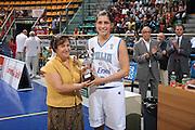 DESCRIZIONE : Bologna Qualificazione Eurobasket Women 2009 Italia Polonia <br /> GIOCATORE : Benedetta Bagnara <br /> SQUADRA : Nazionale Italia Donne <br /> EVENTO : Raduno Collegiale Nazionale Femminile<br /> GARA : Italia Polonia Italy Poland <br /> DATA : 30/08/2008 <br /> CATEGORIA : premiazione <br /> SPORT : Pallacanestro <br /> AUTORE : Agenzia Ciamillo-Castoria/M.Marchi <br /> Galleria : Fip Nazionali 2008 <br /> Fotonotizia : Bologna Qualificazione Eurobasket Women 2009 Italia Polonia <br /> Predefinita :