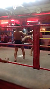 "This is the SHOCKING brutal moment two 9 year old Muay Thai boxers knock each other out in brutal fight in Thailand's sex capital Pattaya. <br /> <br /> Tourist Jack Ryan, 41, from Manchester took the footage while on his way to walking street, Pattaya's sex capital hotspot where thousands of prostitutes work.<br /> <br /> He decided to walk into a group of beer bars just before the famous walking street after seeing a huge boxing ring with young kids fighting in the middle of these small bars where prostitutes sit and wait for foreign customers, ""you can buy sex here for as little as 20"" Jack said.<br /> <br /> The shocking footage shows two young kids aged around 9 years old fighting brutally, the child in the black shorts punches his opponent giving him left and right hooks, he then elbows and kicks his opponent, pushing him to the corner were he releases a flurry of punches.<br /> <br /> The young opponent in the red and gold shorts then fights back with four hard kicks to the head and then the 5th kick knocks the child in black shorts to the floor. You can hear women in the background scream with emotion.<br /> <br /> After the ref briefly checks on the young boy, the fight starts again. The boy with the red and black shorts un leashes many punches and knees his opponent in a shocking fight which knocks the young boy out once again.<br /> <br /> Jack who watched the fight said ""I spotted the young boys fighting so went to look and saw up close that these were kids not older than 9 years old beating each other hard""<br /> <br /> He continues ""I was surprised to see how brutal this was and took a short clip before one of the adult fighters begin to shout at me, so I quickly left""<br /> ©Exclusivepix Media"