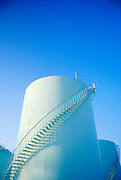 Oil, water, petroleum and chemical storage tank.