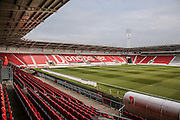 Stadium shot during the EFL Sky Bet League 2 match between Doncaster Rovers and Colchester United at the Keepmoat Stadium, Doncaster, England on 15 October 2016. Photo by Simon Davies.