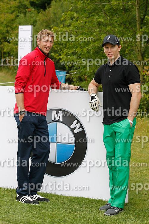 25.06.2014, Golf Club Gut Laerchenhof, Pulheim, GER, BNW International Golf Open, im Bild Stefan Kiessling (Bayer 04 Leverkusen) und Christian Ehrhoff (NHL-Profi - Buffalo Sabres) gut gelaunt // during the International BMW Golf Open at the Golf Club Gut Laerchenhof in Pulheim, Germany on 2014/06/25. EXPA Pictures &copy; 2014, PhotoCredit: EXPA/ Eibner-Pressefoto/ Schueler<br /> <br /> *****ATTENTION - OUT of GER*****