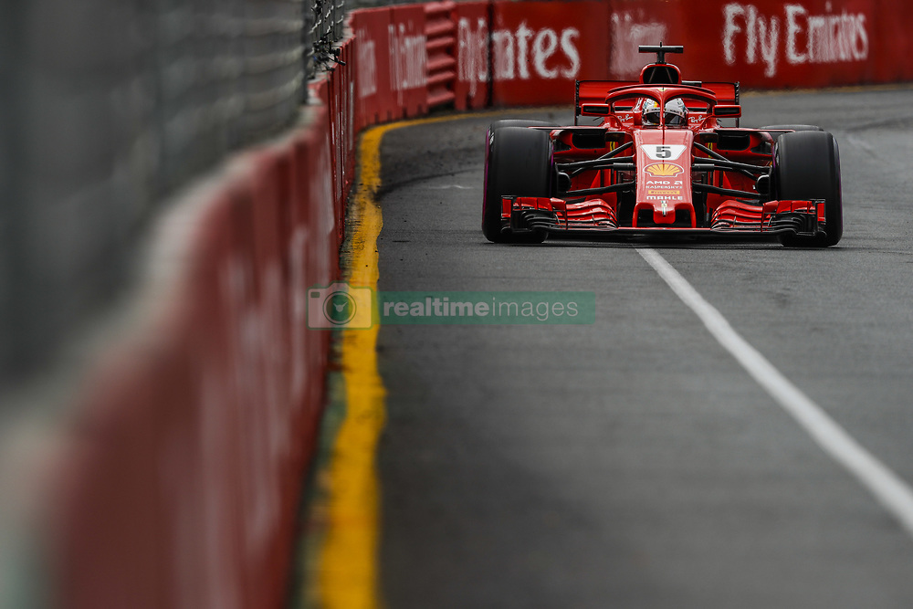 March 24, 2018 - Melbourne, Victoria, Australia - VETTEL Sebastian (ger), Scuderia Ferrari SF71H, action during 2018 Formula 1 championship at Melbourne, Australian Grand Prix, from March 22 To 25 - s: FIA Formula One World Championship 2018, Melbourne, Victoria : Motorsports: Formula 1 2018 Rolex  Australian Grand Prix, (Credit Image: © Hoch Zwei via ZUMA Wire)