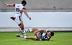 Bristol Rugby Scrum-Half Will Cliff scores a try - Mandatory byline: Joe Meredith/JMP - 25/05/2016 - RUGBY UNION - Ashton Gate Stadium - Bristol, England - Bristol Rugby v Doncaster Knights - Greene King IPA Championship Play Off FINAL 2nd Leg.