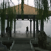 Early morning in a Beijing park, Beijing, China