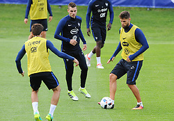 01.06.2016, Alpenstadion, Neustift, AUT, UEFA Euro, Frankreich, Vorbereitung Frankreich,im Bild Morgan Schneiderlin (FRA), Benoit Costil (FRA) // Morgan Schneiderlin and Benoit Costil of France during Trainingscamp of Team France for Preparation of the UEFA Euro 2016 France at the Alpenstadion in Neustift, Austria on 2016/06/01. EXPA Pictures © 2016, PhotoCredit: EXPA/ ERICH SPIESS