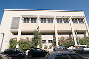 Israel, Tel Aviv, Renovated Bauhaus building at 11 Mazeh Street now a community centre UNESCO has declared Tel Aviv an international heritage site because of the abundance of the Bauhaus architectural style