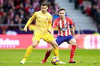 Atletico de Madrid's Saul Niguez (r) and Girona FC's Alex Granell during La Liga match. January 20,2018. (ALTERPHOTOS/Acero)