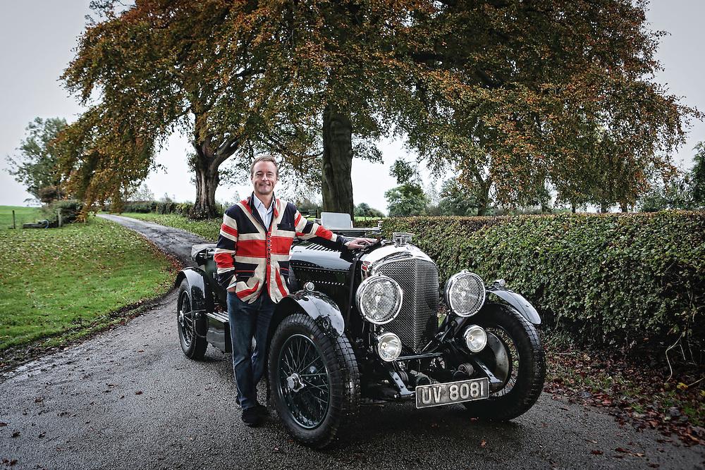Oct 2013 , Ripon - Jonathan Turner with his Bentleys at his home near Ripon