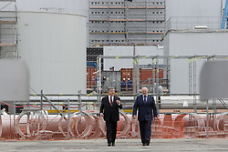April 26, 2017 - Chornobyl, Ukraine - President of Ukraine Petro Poroshenko (L) and Belarus Alexander Lukashenko walk in front of the Chornobyl NPP newly raised safe confinement during the meeting to commemorate the victims of 1986's nuclear disaster in its 31st anniversary, Ukraine, April 26, 2017. (Credit Image: © Sergii Kharchenko/NurPhoto via ZUMA Press)