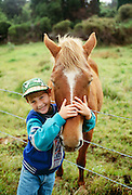 Boy with horse, Island of Hawaii