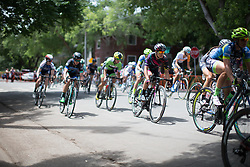 Barbara Guarischi (ITA) of CANYON//SRAM Racing digs deep during the fourth, 70 km road race stage of the Amgen Tour of California - a stage race in California, United States on May 22, 2016 in Sacramento, CA.