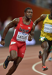 25-08-2015 CHN: IAAF World Championships Athletics day 4, Beijing<br /> Justin Gatlin USA in action at 200 m Men.<br /> Photo by Ronald Hoogendoorn / Sportida
