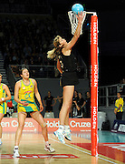 Irene Van Dyk (NZ)<br /> Netball - 2009 Holden International Test Series<br /> Australian Diamonds v New Zealand Silver Ferns<br /> Wednesday 9 September 2009<br /> Hisense Arena, Melbourne AUS<br /> © Sport the library / Jeff Crow