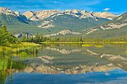 Jasper Lake reflection<br />Jasper National Park<br />Alberta<br />Canada