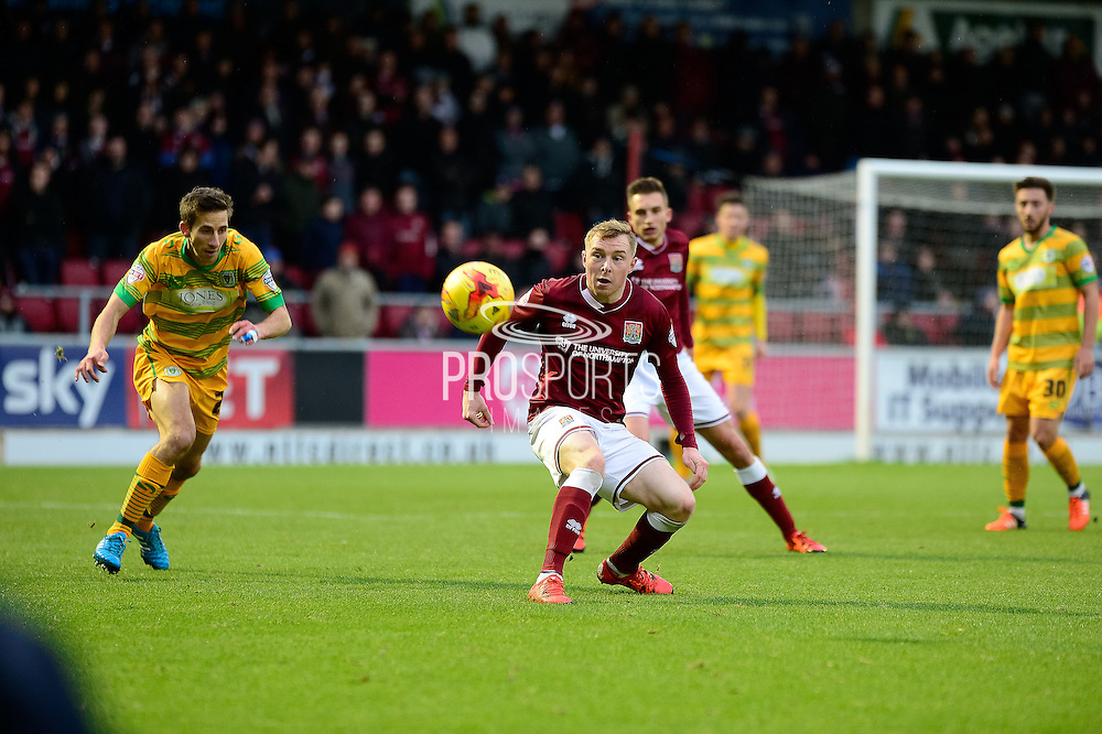 Northampton Town midfielder Nicky Adams during the Sky Bet League 2 match between Northampton Town and Yeovil Town at Sixfields Stadium, Northampton, England on 28 November 2015. Photo by Dennis Goodwin.