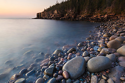 Dawn in Monument Cove in Maine's Acadia National Park.