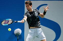 Aljaz Bedene of Slovenia playing in Final match at Day 10 of ATP Challenger Zavarovalnica Sava Slovenia Open 2019, on August 18, 2019 in Sports centre, Portoroz/Portorose, Slovenia. Photo by Vid Ponikvar / Sportida