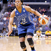 17 June 2014: Minnesota Lynx forward Maya Moore (23) drives to the basket during the Minnesota Lynx  94-77 victory over the Los Angeles Sparks, at the Staples Center, Los Angeles, California, USA.