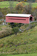 Meech Creek Covered Bridge in Chelsea, Québec, Canada.  This covered bridge was built in 1932.  Photographed from a field next to Cross Loop Road in Gatineau Park.