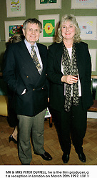 MR & MRS PETER DUFFELL, he is the film producer, at a reception in London on March 20th 1997.LXF 1