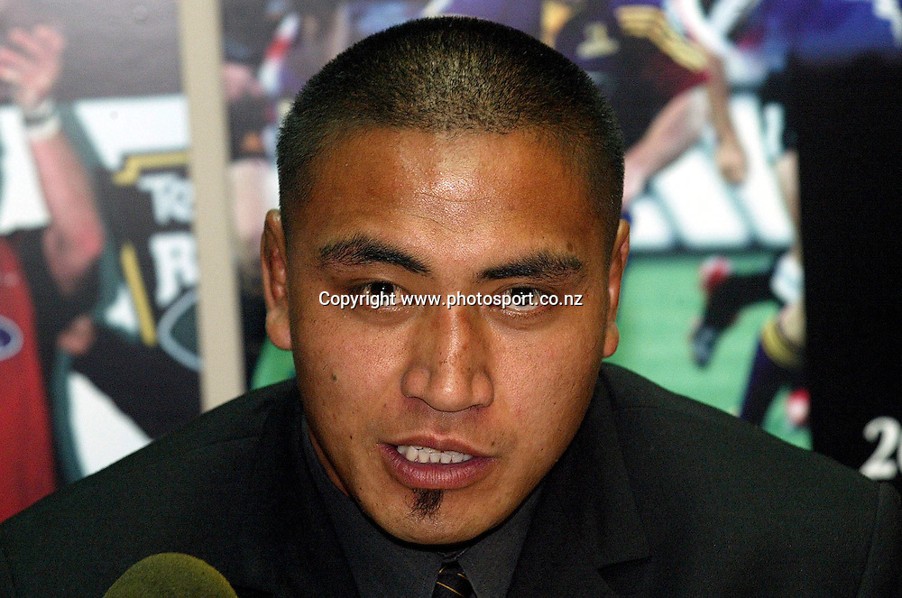 Lion's Jerry Collins at a judiciary hearing for his high tackled last Saturday night which he got a two week ban. 13 October 2004 NZRU Wellington, New Zealand.<br />Photo : Photosport