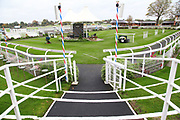 The Parade Ring prior to the Countryside Raceday, October Finale at York Racecourse, York, United Kingdom on 12 October 2018. Pic Mick Atkins