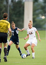 Virginia Cavaliers M/D Nikki Krzysik (23)..The Virginia Cavaliers fell 2-1 the University of Connecticut Huskies in a pre-season exhibition match at Klockner Stadium in Charlottesville, VA on August 26, 2007.