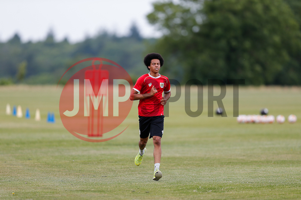Goalkeeper Jojo Wollacott in action as Bristol City return to training ahead of their 2015/16 Sky Bet Championship campaign - Photo mandatory by-line: Rogan Thomson/JMP - 07966 386802 - 01/07/2015 - SPORT - Football- Bristol, England - Failand Training Ground - Sky Bet Championship.